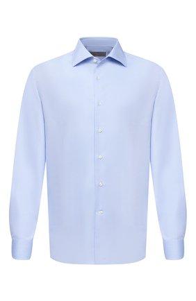 Мужская хлопковая сорочка CANALI голубого цвета, арт. X58/GD01947 | Фото 1