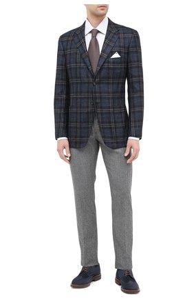 Мужской пиджак из кашемира и шелка KITON темно-синего цвета, арт. UG81K01T01 | Фото 2