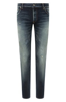 Мужские джинсы BALMAIN синего цвета, арт. UH15291/Z008 | Фото 1