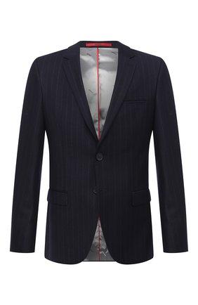 Мужской шерстяной пиджак HUGO темно-синего цвета, арт. 50443357   Фото 1