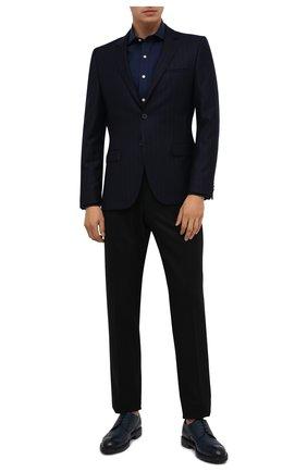 Мужской шерстяной пиджак HUGO темно-синего цвета, арт. 50443357   Фото 2