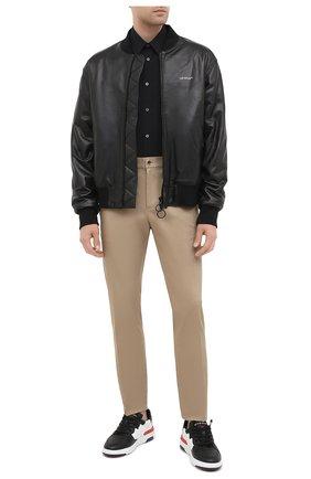 Мужская хлопковая рубашка ALEXANDER MCQUEEN черного цвета, арт. 624753/QPN44 | Фото 2