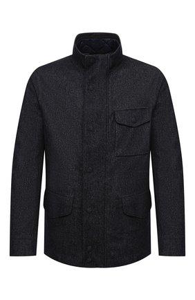 Мужская шерстяная куртка GIORGIO ARMANI темно-синего цвета, арт. 0WG0C04M/T021W | Фото 1 (Рукава: Длинные; Материал подклада: Синтетический материал; Материал утеплителя: Шерсть; Материал внешний: Шерсть; Мужское Кросс-КТ: Куртка-верхняя одежда, Верхняя одежда, шерсть и кашемир; Стили: Кэжуэл; Кросс-КТ: Куртка)