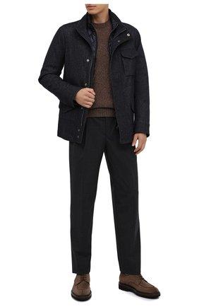 Мужская шерстяная куртка GIORGIO ARMANI темно-синего цвета, арт. 0WG0C04M/T021W | Фото 2 (Рукава: Длинные; Материал подклада: Синтетический материал; Материал утеплителя: Шерсть; Материал внешний: Шерсть; Мужское Кросс-КТ: Куртка-верхняя одежда, Верхняя одежда, шерсть и кашемир; Стили: Кэжуэл; Кросс-КТ: Куртка)