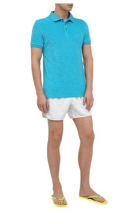 Мужское хлопковое поло VILEBREQUIN голубого цвета, арт. PAFE9Q00/304 | Фото 2