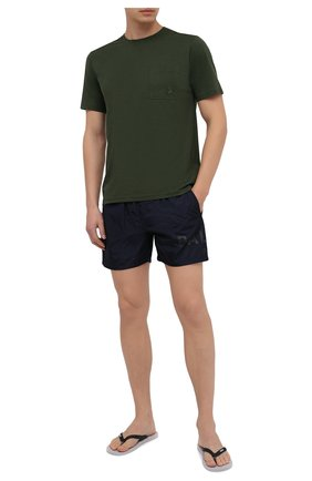 Мужская хлопковая футболка VILEBREQUIN хаки цвета, арт. TUSU0P00/506   Фото 2
