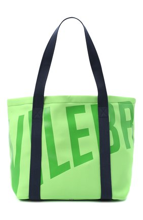 Мужская текстильная пляжная сумка VILEBREQUIN зеленого цвета, арт. BSBU0127/441 | Фото 1