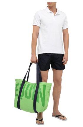 Мужская текстильная пляжная сумка VILEBREQUIN зеленого цвета, арт. BSBU0127/441 | Фото 2