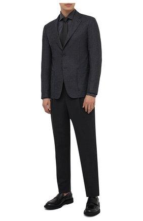 Мужская хлопковая сорочка RALPH LAUREN темно-серого цвета, арт. 791819178 | Фото 2 (Материал внешний: Хлопок; Длина (для топов): Стандартные; Рукава: Длинные; Случай: Формальный; Стили: Классический)