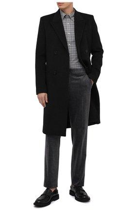 Мужская хлопковая рубашка RALPH LAUREN серого цвета, арт. 790806118 | Фото 2