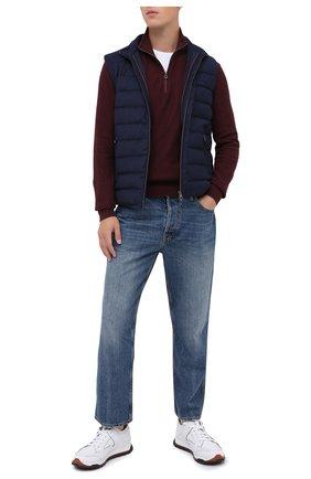 Мужской хлопковый джемпер POLO RALPH LAUREN бордового цвета, арт. 710701611 | Фото 2