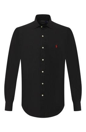 Мужская хлопковая рубашка POLO RALPH LAUREN черного цвета, арт. 710815096 | Фото 1