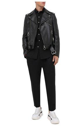 Мужская хлопковая рубашка POLO RALPH LAUREN черного цвета, арт. 710815096 | Фото 2