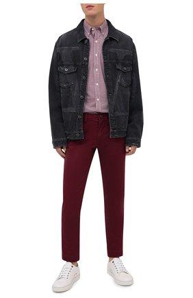 Мужская хлопковая рубашка POLO RALPH LAUREN бордового цвета, арт. 710804256/2365 E | Фото 2