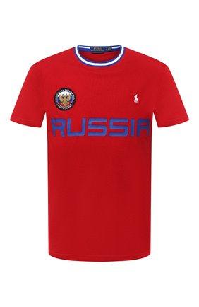 Мужская хлопковая футболка POLO RALPH LAUREN красного цвета, арт. 710803534 | Фото 1 (Рукава: Короткие; Длина (для топов): Стандартные; Материал внешний: Хлопок; Мужское Кросс-КТ: Футболка-одежда; Стили: Спорт-шик)