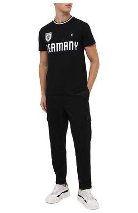 Мужская хлопковая футболка POLO RALPH LAUREN черного цвета, арт. 710803526 | Фото 2
