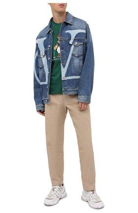 Мужская хлопковая футболка POLO RALPH LAUREN зеленого цвета, арт. 710803488 | Фото 2