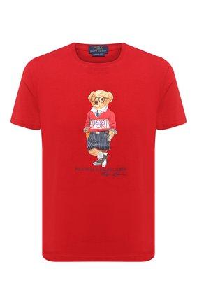 Мужская хлопковая футболка POLO RALPH LAUREN красного цвета, арт. 710803488 | Фото 1