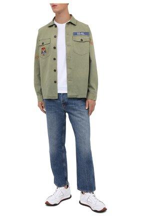 Мужская хлопковая рубашка POLO RALPH LAUREN хаки цвета, арт. 710798081/4805 | Фото 2