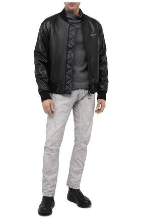 Мужские кожаные сапоги OFFICINE CREATIVE черного цвета, арт. SPHYKE/008/FRIDA | Фото 2