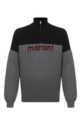 Мужской свитер ISABEL MARANT серого цвета, арт. PU1439-20A052H/VALLEY | Фото 1