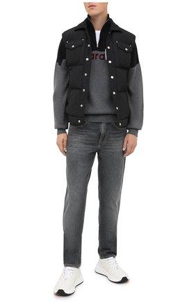 Мужской свитер ISABEL MARANT серого цвета, арт. PU1439-20A052H/VALLEY | Фото 2