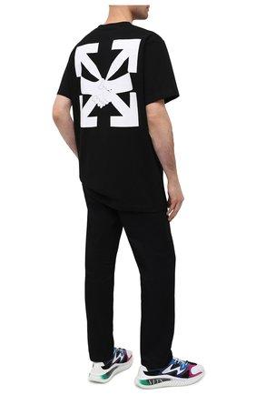 Мужская хлопковая футболка OFF-WHITE черного цвета, арт. 0MAA027F20FAB0131001   Фото 2