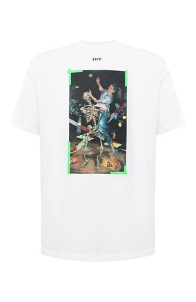 Мужская хлопковая футболка OFF-WHITE белого цвета, арт. 0MAA038F20FAB0150155   Фото 1