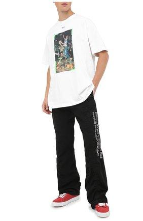 Мужская хлопковая футболка OFF-WHITE белого цвета, арт. 0MAA038F20FAB0150155   Фото 2