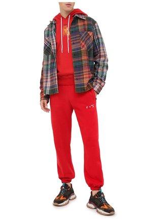 Мужской хлопковое худи OFF-WHITE красного цвета, арт. 0MBB034F20FLE0032510 | Фото 2