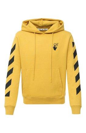 Мужской хлопковое худи OFF-WHITE желтого цвета, арт. 0MBB034F20FLE0091610   Фото 1