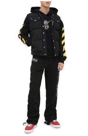 Мужской хлопковое худи OFF-WHITE черного цвета, арт. 0MBB037F20FLE0091018   Фото 2 (Рукава: Длинные; Материал внешний: Хлопок; Длина (для топов): Стандартные; Мужское Кросс-КТ: Худи-одежда)
