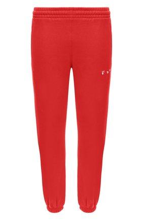 Мужской хлопковые джоггеры OFF-WHITE красного цвета, арт. 0MCH030F20FLE0012501 | Фото 1