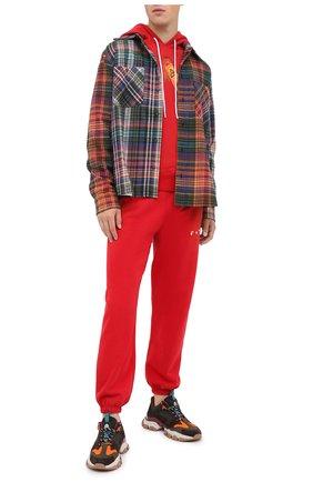 Мужской хлопковые джоггеры OFF-WHITE красного цвета, арт. 0MCH030F20FLE0012501 | Фото 2