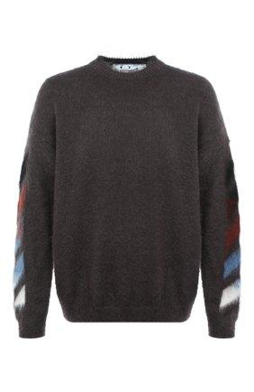 Мужской свитер OFF-WHITE серого цвета, арт. 0MHA036F20KNI0010987 | Фото 1