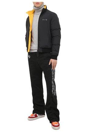 Мужской кашемировый свитер OFF-WHITE серого цвета, арт. 0MHF018F20KNI0010910   Фото 2