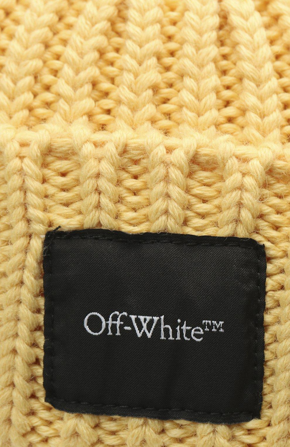 Мужская шерстяная шапка OFF-WHITE желтого цвета, арт. 0MLC001F20KNI0011800 | Фото 3