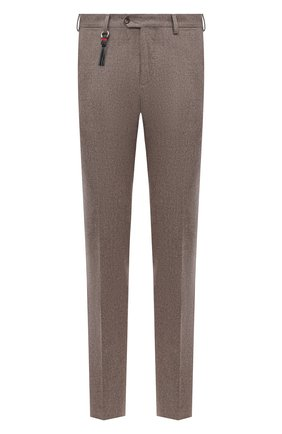 Мужской брюки из шерсти и кашемира MARCO PESCAROLO бежевого цвета, арт. SLIM80/4233 | Фото 1