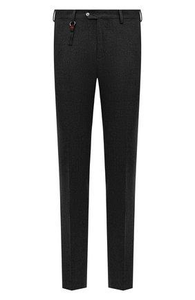 Мужской брюки из шерсти и кашемира MARCO PESCAROLO темно-серого цвета, арт. SLIM80/4233 | Фото 1