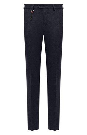 Мужской брюки из шерсти и кашемира MARCO PESCAROLO темно-синего цвета, арт. SLIM80/4233 | Фото 1