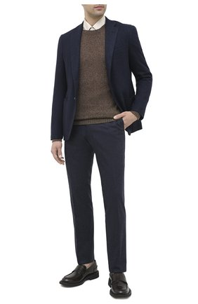 Мужской брюки из шерсти и кашемира MARCO PESCAROLO темно-синего цвета, арт. SLIM80/4233 | Фото 2
