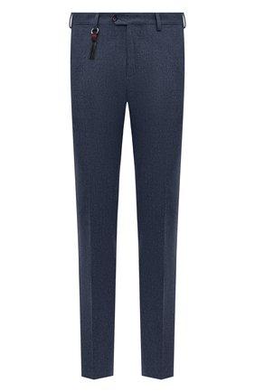 Мужской брюки из шерсти и кашемира MARCO PESCAROLO синего цвета, арт. SLIM80/4233 | Фото 1