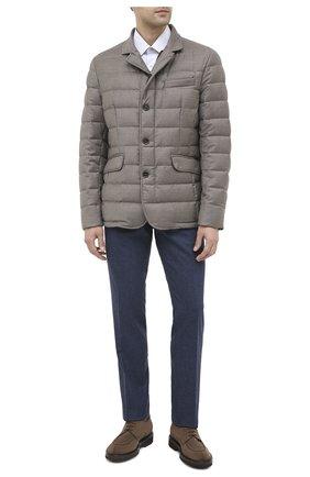Мужской брюки из шерсти и кашемира MARCO PESCAROLO синего цвета, арт. SLIM80/4233 | Фото 2