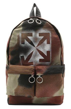 Мужской текстильный рюкзак OFF-WHITE хаки цвета, арт. 0MNB003E20FAB0036060 | Фото 1