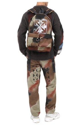 Мужской текстильный рюкзак OFF-WHITE хаки цвета, арт. 0MNB003E20FAB0036060 | Фото 2