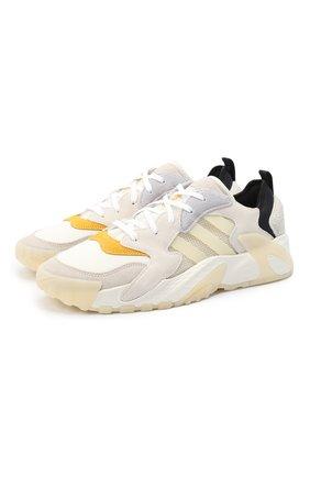 Мужские комбинированные кроссовки streetball low ADIDAS ORIGINALS бежевого цвета, арт. FW1215 | Фото 1