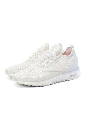 Мужские комбинированные кроссовки zx 2k boost ADIDAS ORIGINALS белого цвета, арт. FX8834 | Фото 1