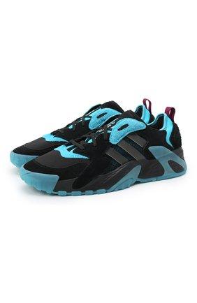 Мужские комбинированные кроссовки streetball low ADIDAS ORIGINALS синего цвета, арт. FW1216 | Фото 1