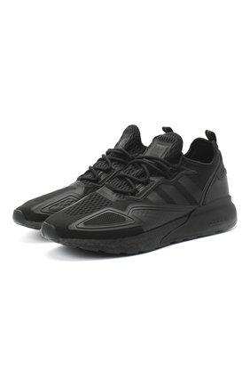 Мужские комбинированные кроссовки zx 2k boost ADIDAS ORIGINALS черного цвета, арт. FV9993 | Фото 1
