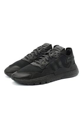 Мужские комбинированные кроссовки nite jogger ADIDAS ORIGINALS черного цвета, арт. FV1277 | Фото 1